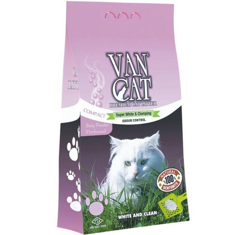 Nisip igienic, Vancat Baby Powder Compact, 5 kg imagine