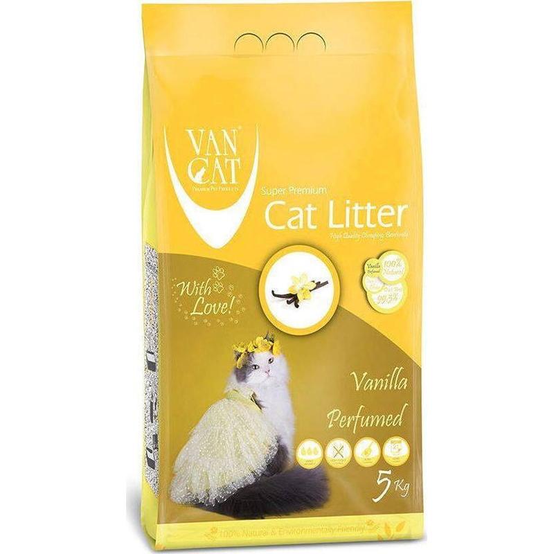 Nisip igienic, Vancat Vanilla Compact, 5 kg imagine