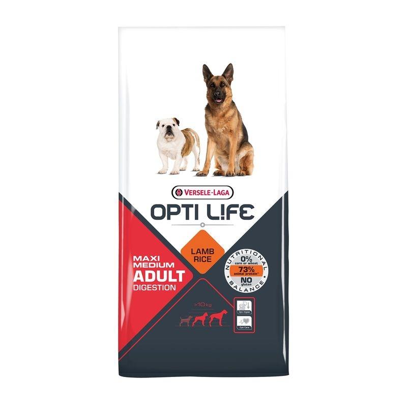 Versele Laga Opti Life Adult Digestive Medium And Maxi, 12.5 Kg imagine