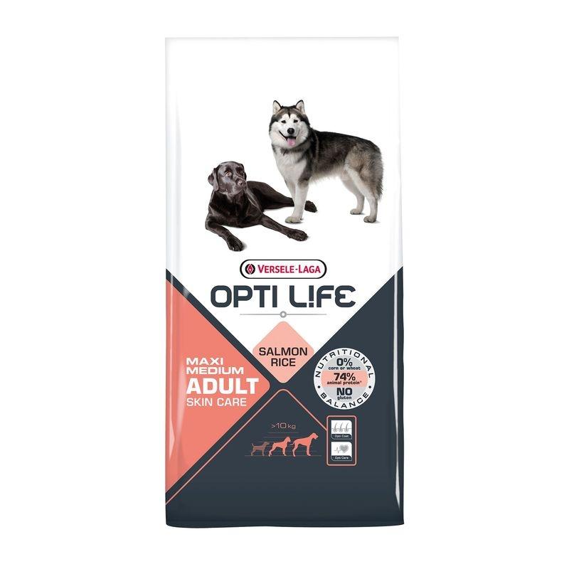 Versele Laga Opti Life Adult Skin Care Medium and Maxi, 12.5 kg imagine