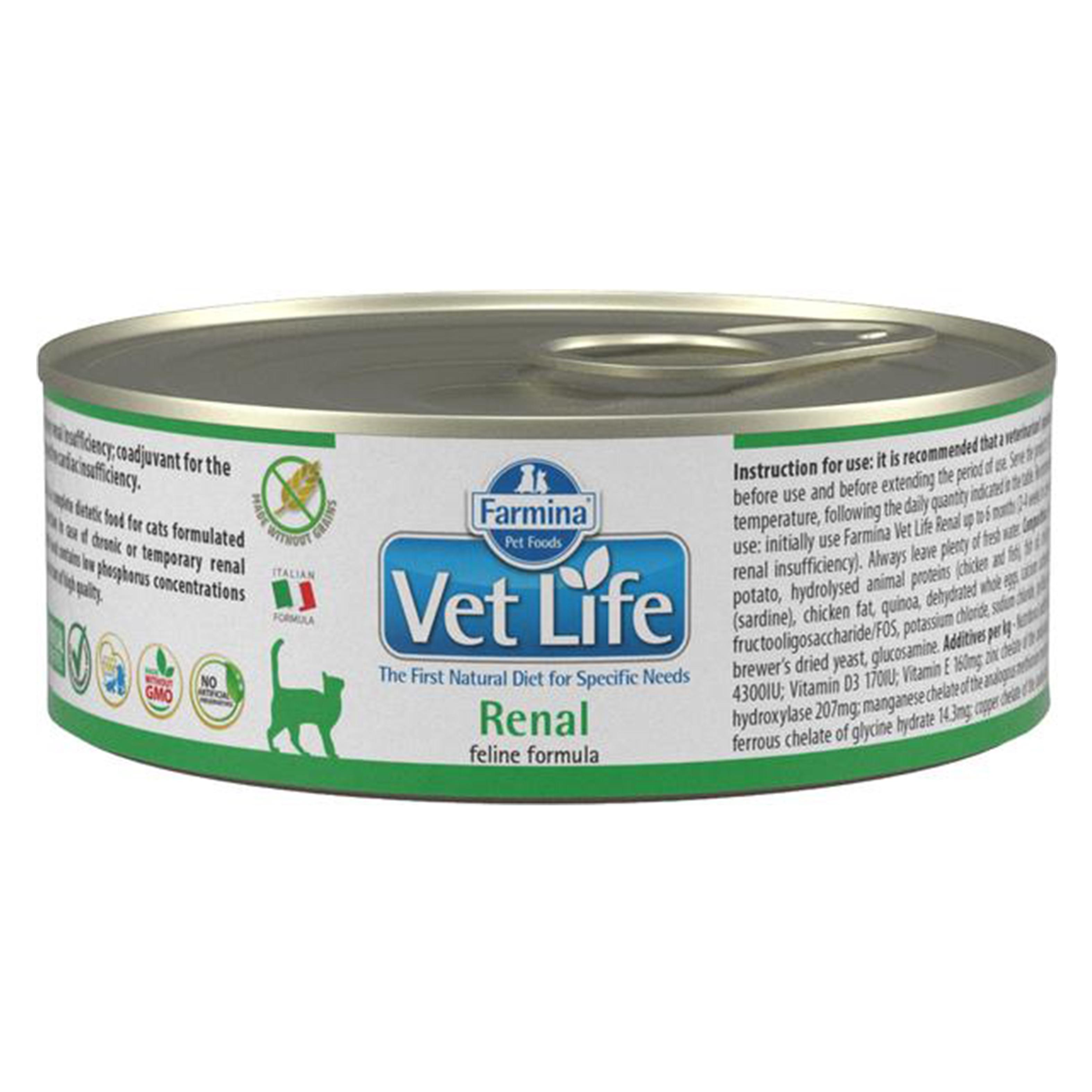 Vet Life Natural Diet Cat Renal, 85 g imagine