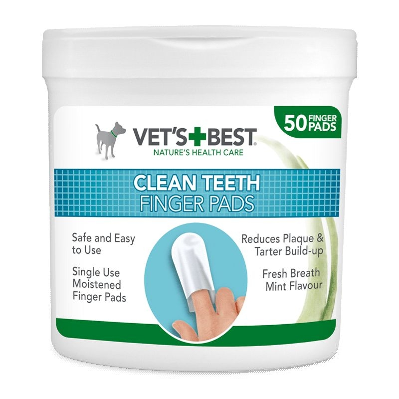 Vet's Best Dental Wipes, 50 bucati imagine