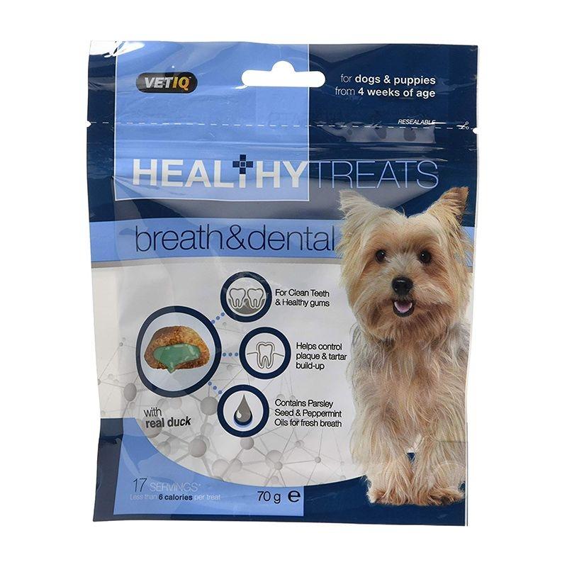 Vetiq Snack Dog Breath & Dental, 70 g imagine