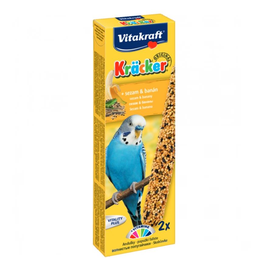 Batoane pentru perusi, Vitakraft Kracker Banana, 60 g imagine