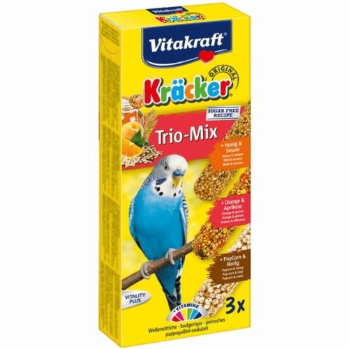 Baton Perusi Vitakraft Trio Mix Miere/ Portocale/ Popcorn 3 Buc imagine