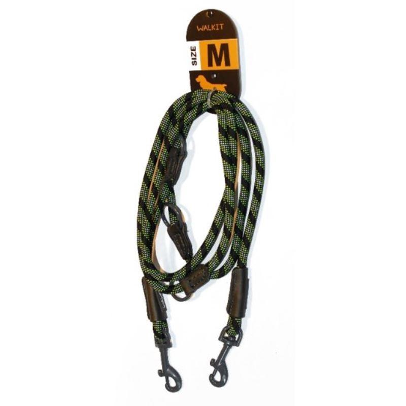 Walkit Special Round Rope Lesa caine verde/negru (M) 0.8 x 200 cm imagine