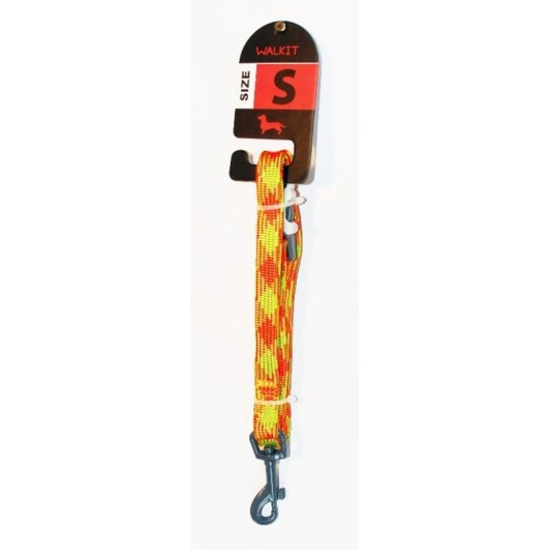 Walkit Special Tubular Multicolor Lesa caine portocaliu/galben (S) 1.6 x 150 cm imagine