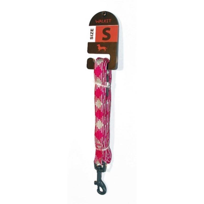 Walkit Special Tubular Multicolor Lesa caine roz/alb (S) 1.6 x 150 cm imagine