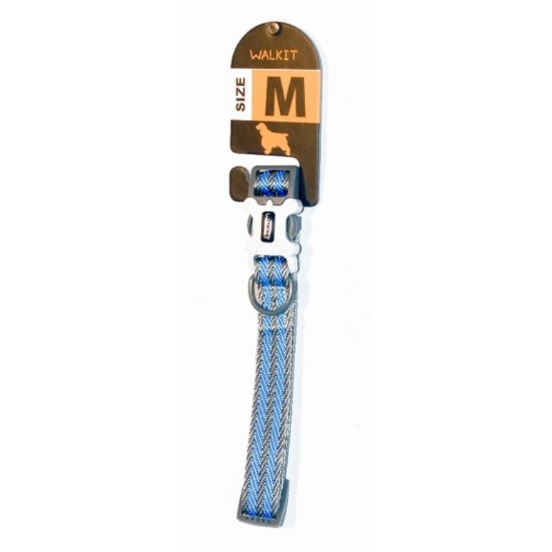 Walkit Special Twill Weaved Zgarda caine gri/albastru (M) 2 x 35 - 50 cm imagine