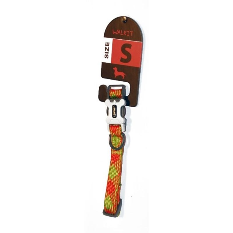Walkit Tubular Multicolor Zgarda caine portocalie (S) 1.6 x 25 - 35 cm imagine