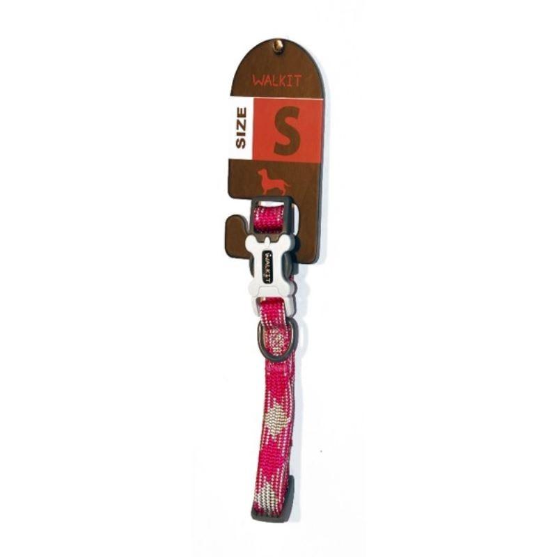 Walkit Tubular Multicolor Zgarda caine roz (S) 1.6 x 25 - 35 cm imagine