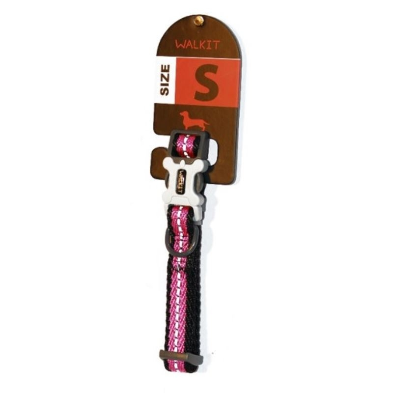 Walkit Twill Weaved Zgarda caine roz (S) 1.6 x 25 - 35 cm imagine
