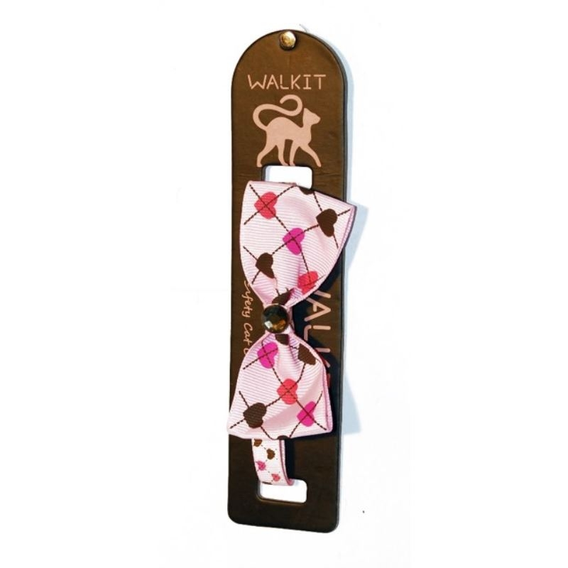 Walkit Zgarda pisica cu funda roz (S) 1 x 32 cm imagine