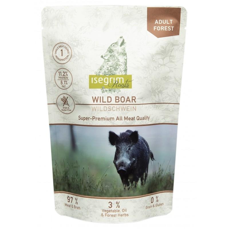 Hrana umeda, Pouch Isegrim Dog Adult Wild Boar Monoprotein, 410 g imagine