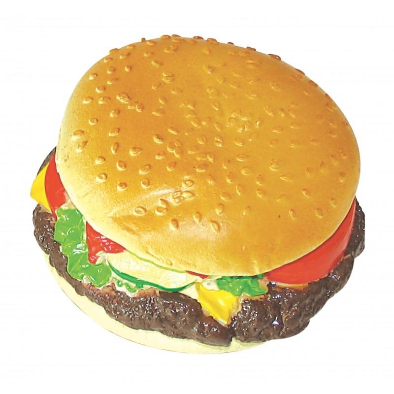 Jucarie hamburger din vinil, Mon Petit Ami, 9 cm diametru imagine