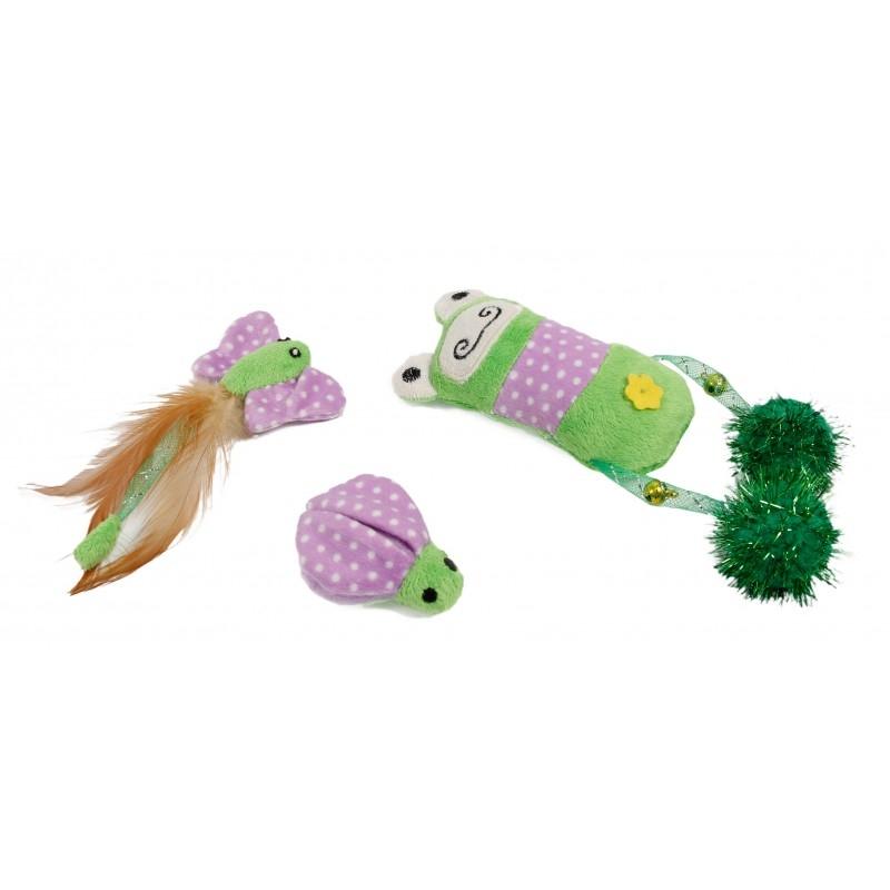 Set 3 jucarii cu iarba matei pentru pisica, Mon Petit Ami imagine