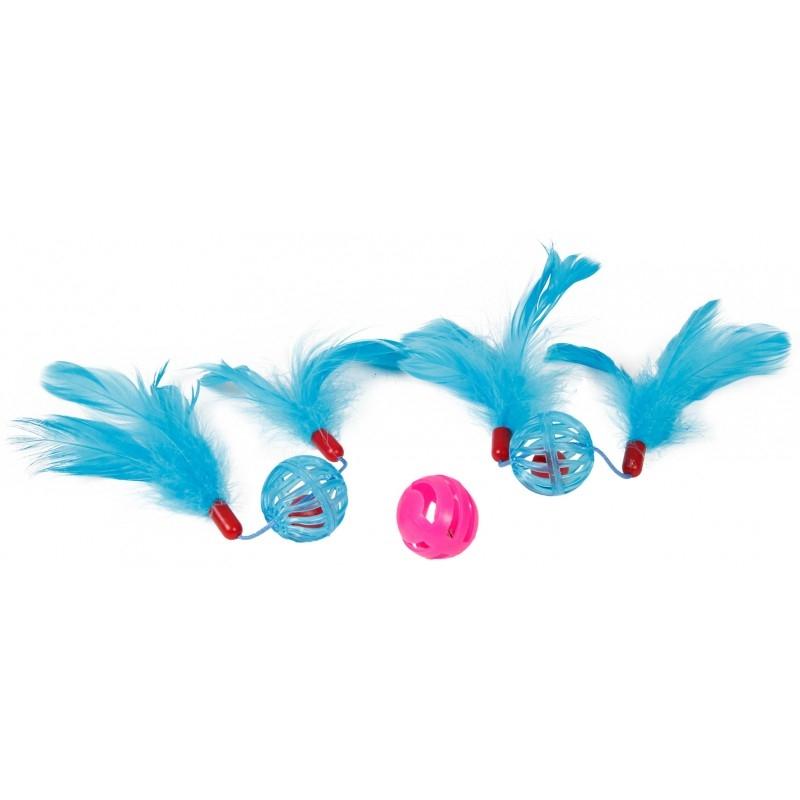 Set 3 jucarii pentru pisica, Mon Petit Ami, Albastru imagine