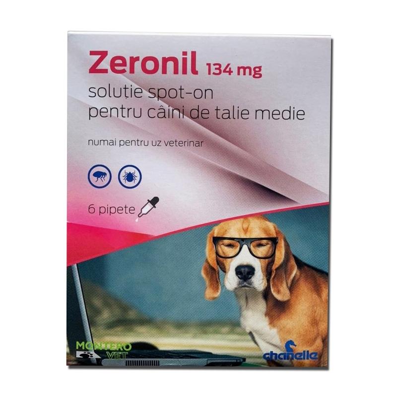 Pipete antiparazitare caini, Zeronil, 134 mg x 6, 10 - 20 kg imagine