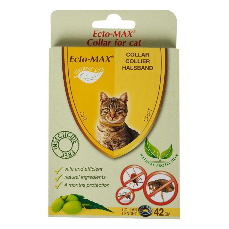 Zgarda antiparazitara Ecto-MAX Bio Cat, 42 cm imagine