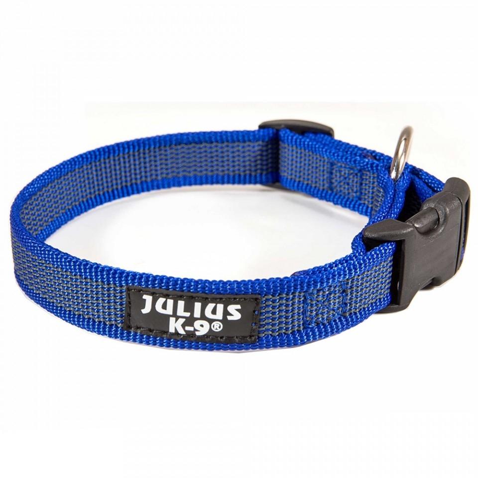 Zgarda nylon reglabila, Albastru-Gri, 20 mm imagine
